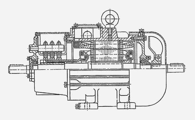 Схема кранового