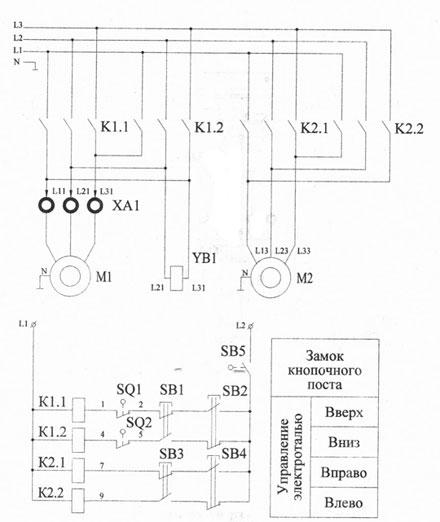 Электрическая схема тельфера
