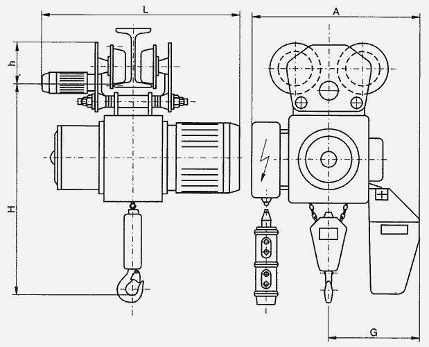 схема электрической цепной