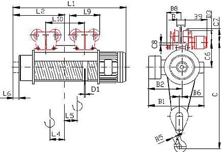 Тельфер электрический (таль электрическая) Т39 10 тонн.