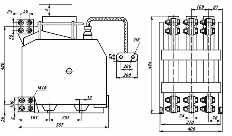Схема сборки выключателя Э 40С