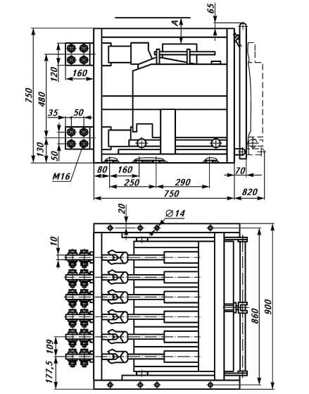 Схема сборки выключателя Э40В
